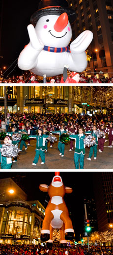 magnificent mile lights festival parade photos