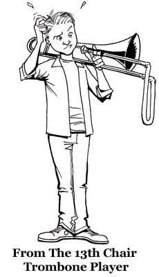 Marching Com From The 13th Chair Trombone Player Seen